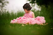 Free Child Wearing Pettiskirt Stock Photography - 5559312