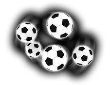 Free Isolated Soccer Balls Royalty Free Stock Photo - 5559325