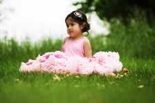 Free Child Wearing Pettiskirt Stock Photography - 5559382