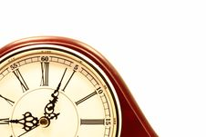 Free Clock Against White Royalty Free Stock Photo - 5559795
