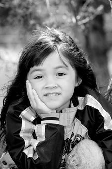 Free A Cute Young Girl With A Smile. Stock Photos - 5559823