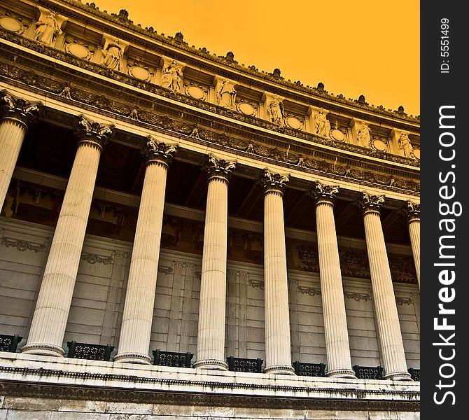 Classic marble colonnade, Vittoriano Rome s01