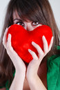 Free Girl With Heart Royalty Free Stock Photos - 5567448