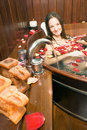 Free Young Girl In Tub - Vertical Stock Images - 5569944