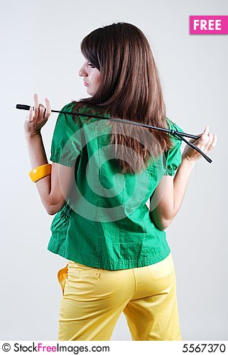 Free Girl With Whip Stock Photo - 5567370