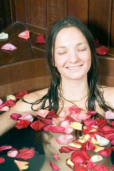 Free Girl Sitting In Bathtub - Vertical Stock Image - 5560131