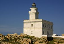 Lighthouse In Sardinia Royalty Free Stock Images