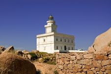 Lighthouse In Sardinia Royalty Free Stock Photos