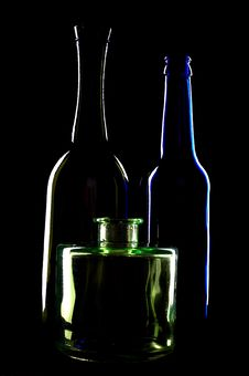 Free Silhouettes Of Bottles Stock Photography - 5561832
