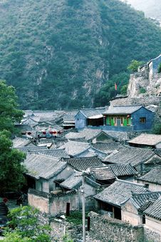 Ancient Village In The Mountain. Royalty Free Stock Image