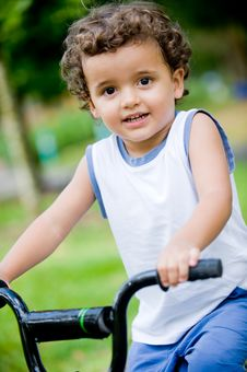 Free Boy On Bike Stock Image - 5562551