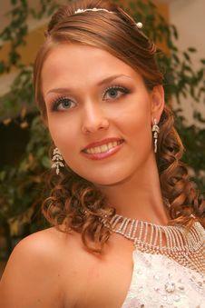Free Bride In Wedding Dress Stock Image - 5563011