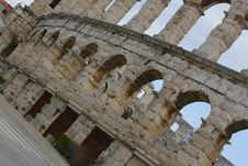 Amphitheatre - Pula, Croatia Royalty Free Stock Photos