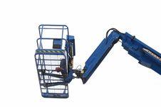 Free Blue Construction Crane Royalty Free Stock Photo - 5563315