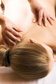 Free Woman Getting A Massage Stock Image - 5563561