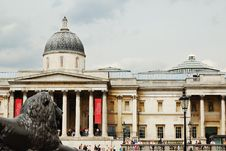 Free The National Gallery With A Bronze Lion Stock Images - 5563694