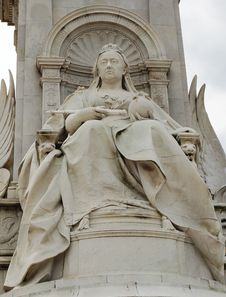 Detail Of The Statue Of Queen Victoria Royalty Free Stock Photo