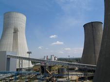 Free Cooling Towers Stock Image - 5564751