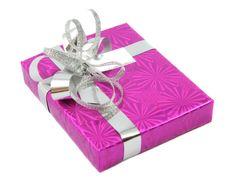 Free Liliac Gift Isolated On White Stock Photo - 5564940