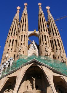 Free La Sagrada Familia Church-Barcelona Stock Photos - 5565863