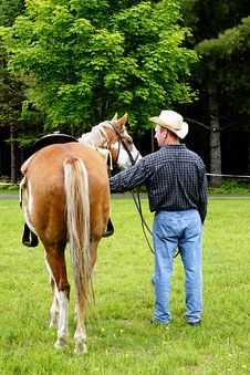 Free Cowboy And His Horse Stock Images - 5566614