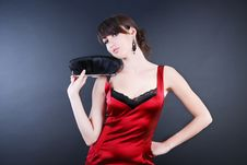 Free Woman In Red Stock Photos - 5567063