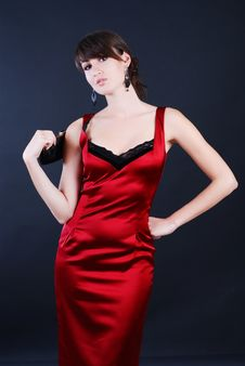 Free Woman In Red Royalty Free Stock Image - 5567096