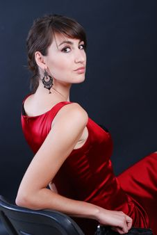 Free Woman In Red Stock Photography - 5567152