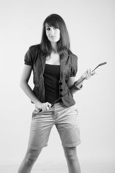 Free Girl With Whip Stock Images - 5567344