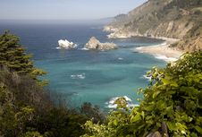 Free View From Big Sur Overlook Stock Image - 5567441