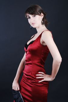 Free Woman In Red Stock Photography - 5567572