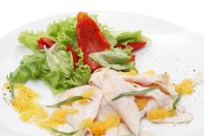 Free Chicken Breasts Carpaccio Royalty Free Stock Image - 5567656