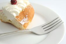 Cake And Fork Stock Images
