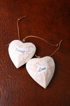 Free Wooden Hearts Royalty Free Stock Photos - 5567708