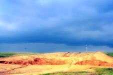 Free Sand Quarry Royalty Free Stock Photography - 5567717