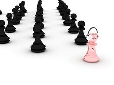 Pawns Stock Photo