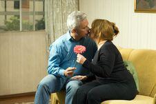 Free Couple Kissing - Horizontal Royalty Free Stock Image - 5569846