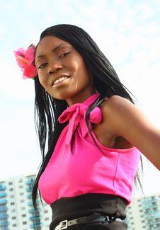 Free African American Woman Posing Stock Image - 5569991