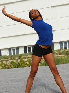 Free Female Stretching Royalty Free Stock Photo - 5570065