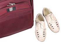 Free Shoes Pair And Bag Stock Images - 5570834