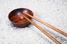 Free Chopstick And Bowl On Rice Stock Photo - 5570910