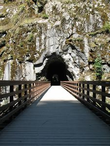Tunnel In A Rock Royalty Free Stock Photo