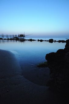 Free Trabocco Into The Sunset Stock Image - 5571061