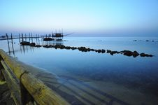 Free Trabocco Into The Sunset Stock Image - 5571071