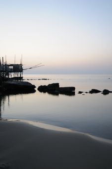 Free Trabocco Into The Sunset Stock Image - 5571131