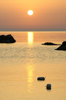Free Trabocco Into The Sunset Royalty Free Stock Images - 5571369