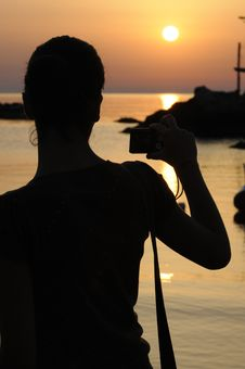 Free Trabocco Into The Sunset Stock Photography - 5571422