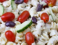 Free Pasta Salad Close Up Royalty Free Stock Photography - 5571537