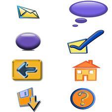 Free Icons Royalty Free Stock Photos - 5571848