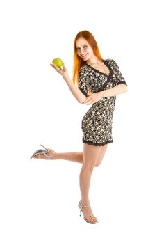 Free Dance With Apple Stock Photography - 5572652